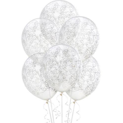 Clear Filigree Balloons, 6-pk