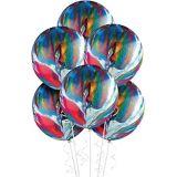 Rainbow Marble Balloons, 72-pk | Amscannull