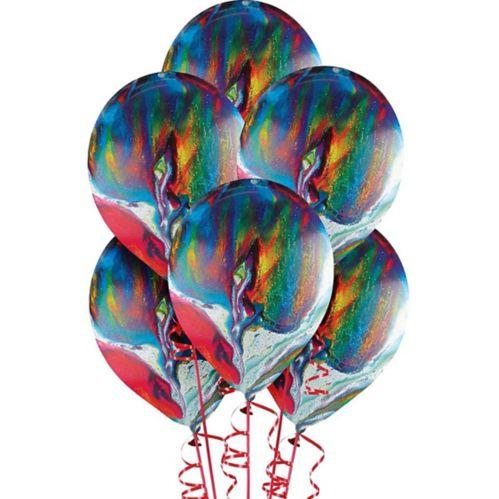 Ballons marbrés arc-en-ciel, paq. 15 Image de l'article
