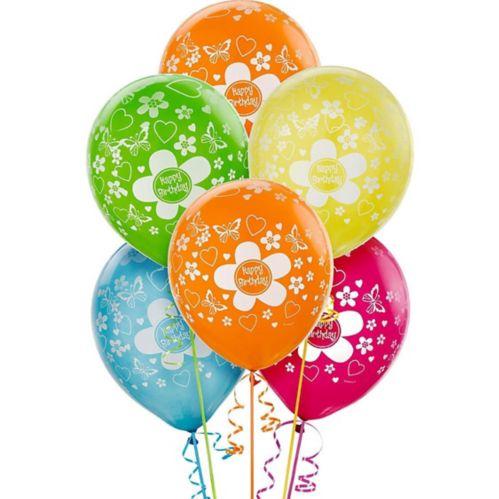 Bright Flower Birthday Balloons, 20-pk