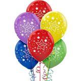 Ballons d'anniversaire, étoile couleurs primaires, paq. 20 | Amscannull