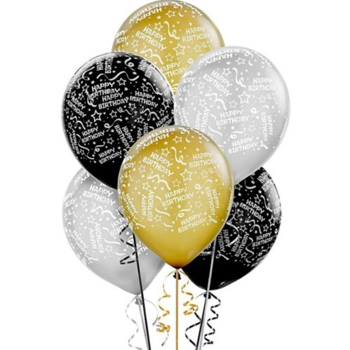 Metallic Confetti Birthday Balloons, 20-pk