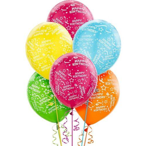 Bright Confetti Birthday Balloons, 20-pk