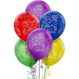 Primary Coloured Confetti Birthday Balloons, 20-pk