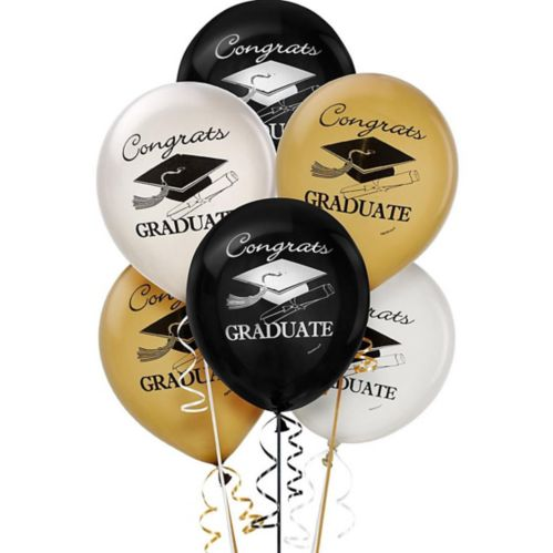 Ballons de remise des diplômes assortis, paq. 15 Image de l'article