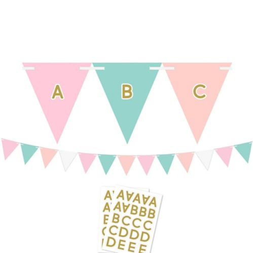 Pastel & Gold Pennant Banner Kit Product image