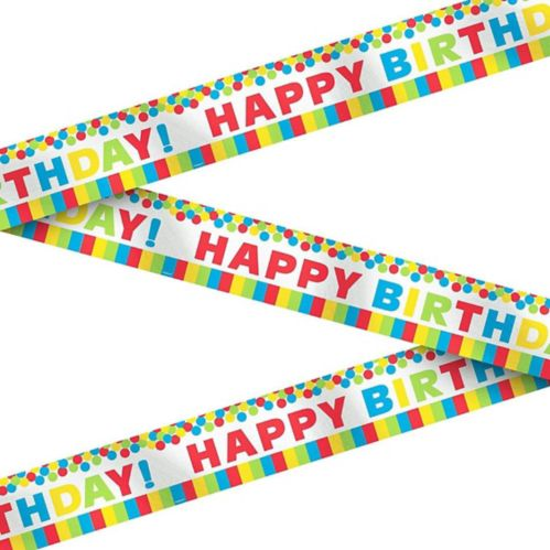 Metallic Rainbow Birthday Banner