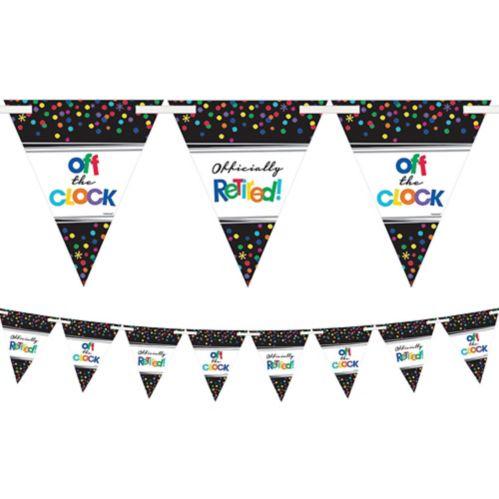 Happy Retirement Celebration Pennant Banner Product image