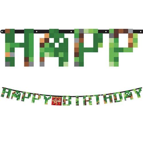 Pixelated Birthday Banner Kit