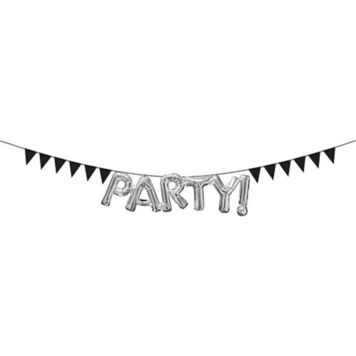 Mini Create-Your-Own Black Pennant Banner
