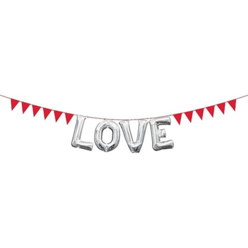 Mini Create-Your-Own Red Pennant Banner