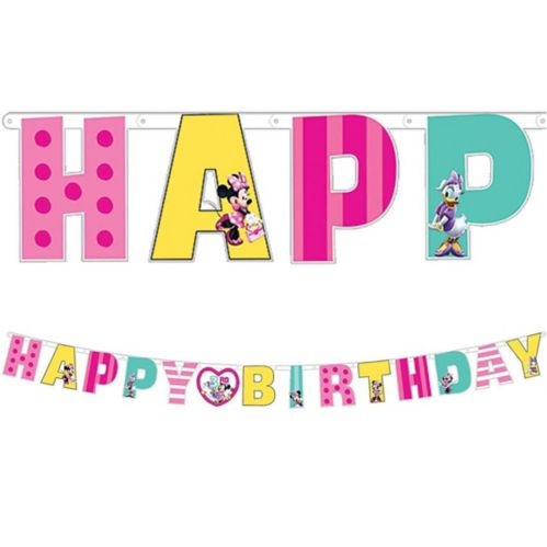 Minnie Mouse Birthday Banner Kit