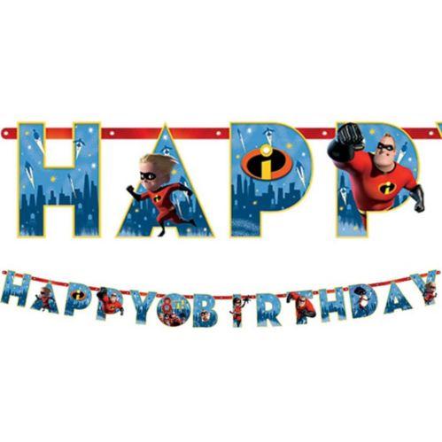 Incredibles 2 Birthday Banner Kit