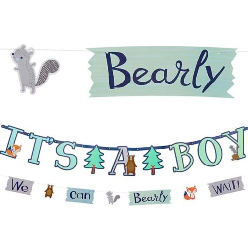 Can Bearly Wait Jumbo Letter Banner with Mini Banner