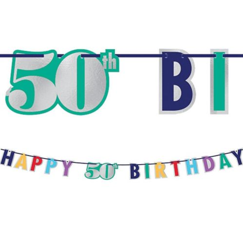 Here's to 50 Birthday Banner Product image