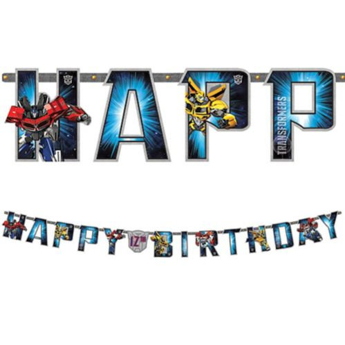 Transformers Jumbo Add-An-Age Letter Birthday Banner, 10-ft Product image
