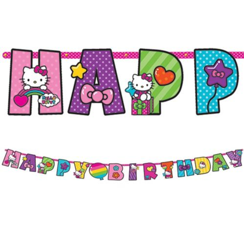 Hello Kitty Jumbo Add-An-Age Letter Birthday Banner, 10-ft Product image