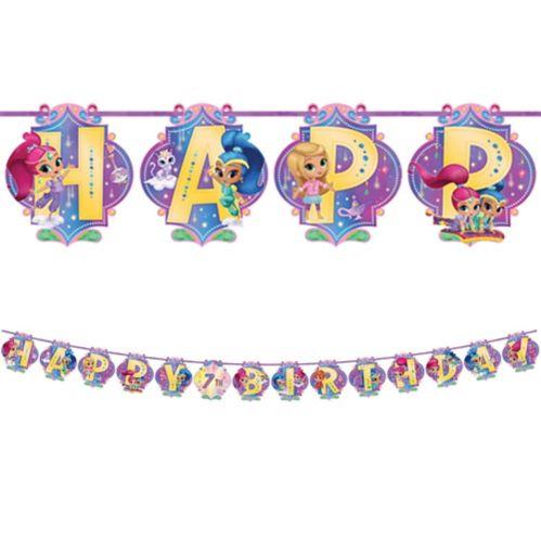 Ens. banderole d'anniversaire Chatoyant et scintillant