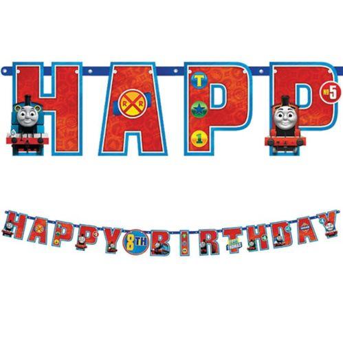 Banderole d'anniversaire Thomas le petit train