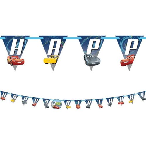 Cars 3 Birthday Banner Kit