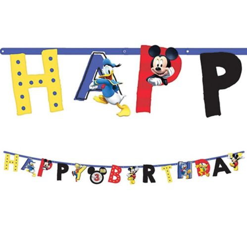 Banderole d'anniversaire Mickey Mouse