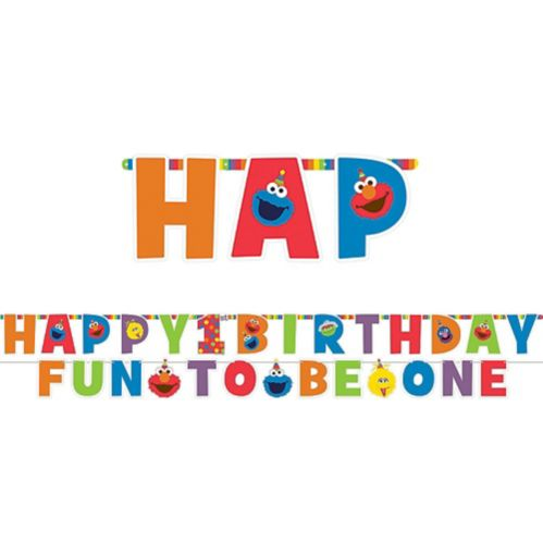 Sesame Street Elmo 1st Birthday Letter Banner Kit, 2-pc Product image