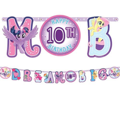 My Little Pony Jumbo Add-An-Age Letter Birthday Banner, 10-ft Product image