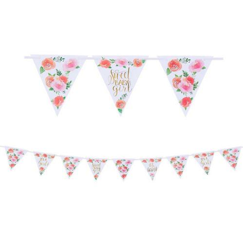 Banderole à fanions bébé floral