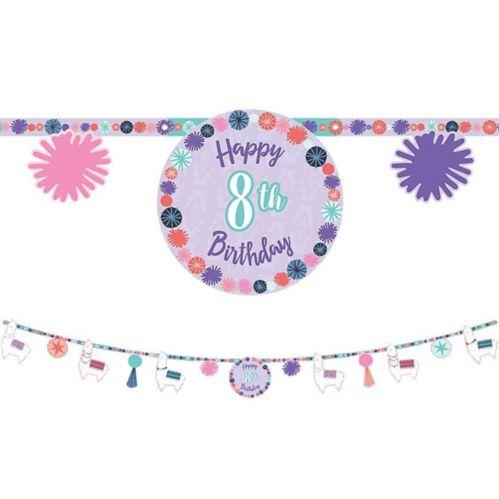 Llama Fun Birthday Banner Kit Product image