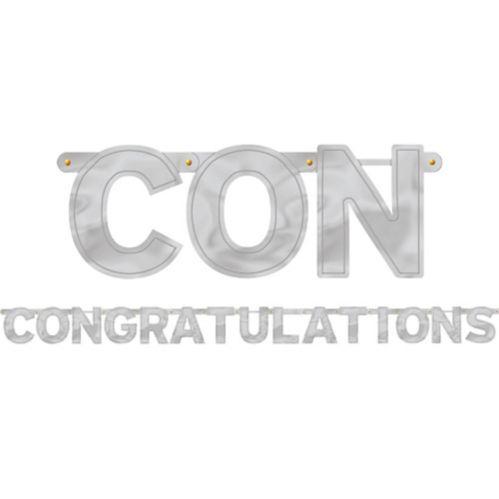 Silver Congratulations Letter Banner