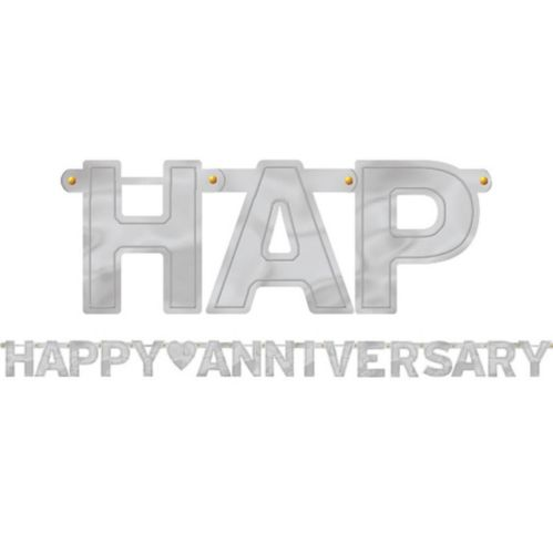 Banderole à lettres Happy Anniversary