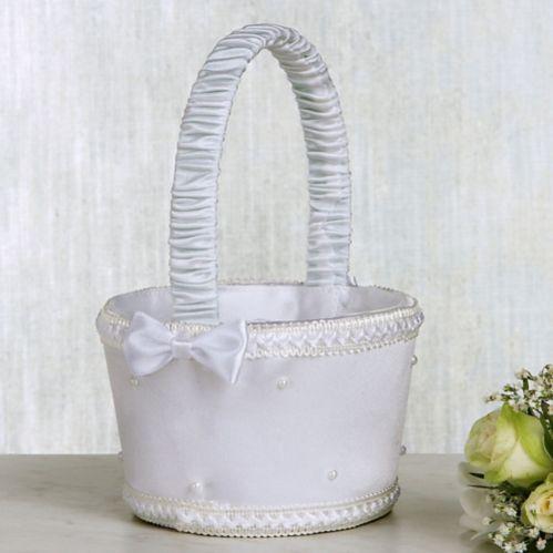 Panier pour bouquetière à perles blanches Image de l'article