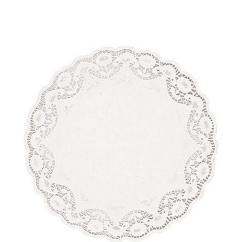 Napperons ronds en papier blanc, paq. 12