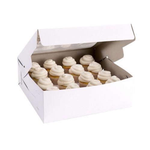 Boîte à gâteau blanche à fenêtre carrée, 12 po Image de l'article