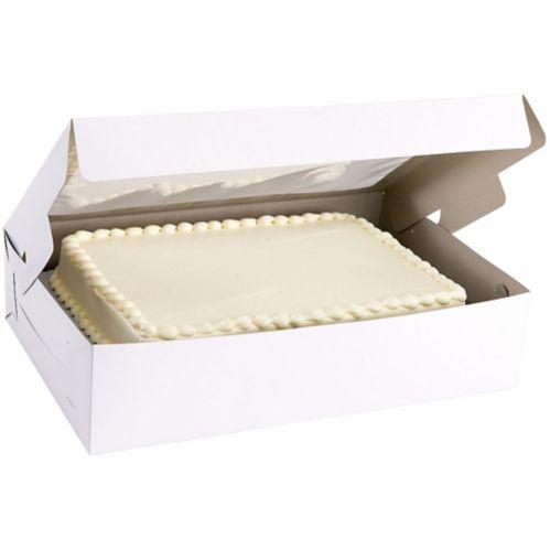 White Window Half-Sheet Cake Box Product image
