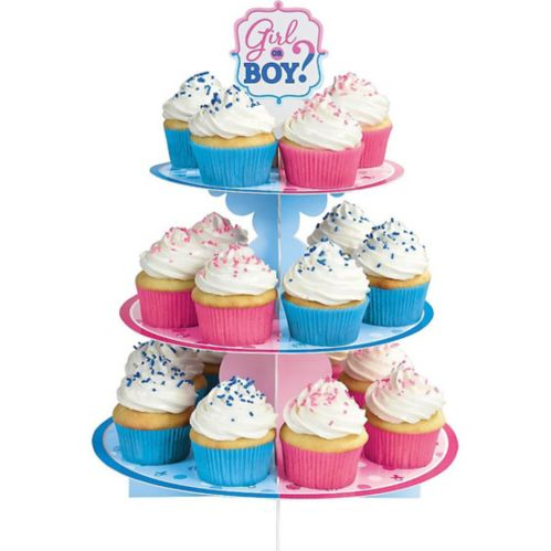 Girl or Boy Gender Reveal Cupcake Stand Product image