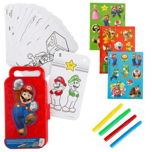 Boîte d'activités avec autocollants Super Mario