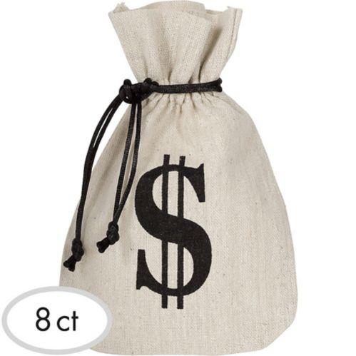 Burlap Money Favour Bags, 8-pk