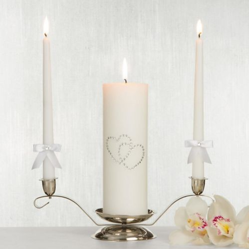 White Hearts Unity Candle Set, 3-pc Product image