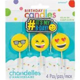 Smiley Birthday Toothpick Candles, 4-pk | Amscannull