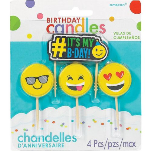 Smiley Birthday Toothpick Candles, 4-pk Product image