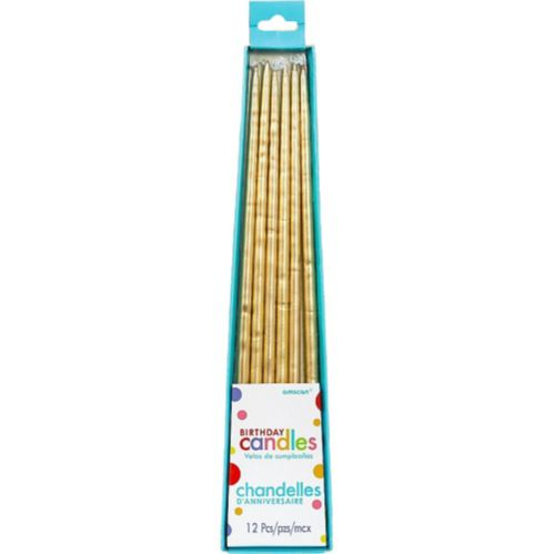 Long Birthday Candles, 12-pk Product image