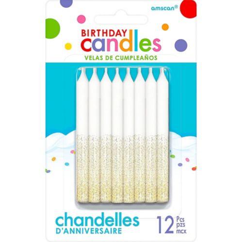 Glitter Birthday Candles, 12-pk