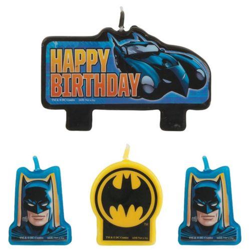 Bougies d'anniversaire Batman, paq. 4