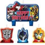 Bougies d'anniversaire Transformers, paq. 4 | Transformersnull