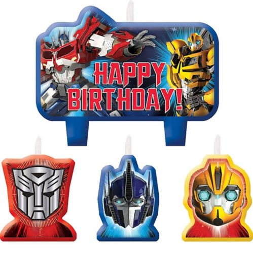 Transformers Birthday Candles Set, 4-pc