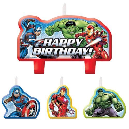 Bougies d'anniversaire Avengers, paq. 4