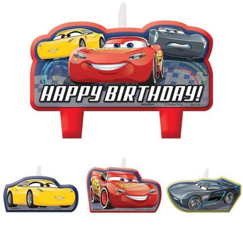 Cars 3 Birthday Candles Set, 4-pk