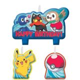 Pokémon Core Birthday Candles, 4-pk | Amscannull