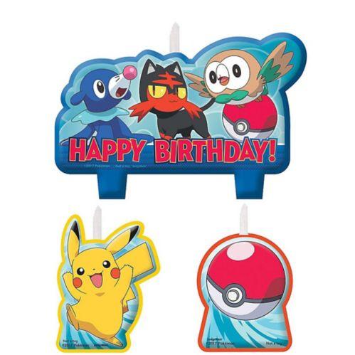 Pokémon Core Birthday Candles, 4-pk